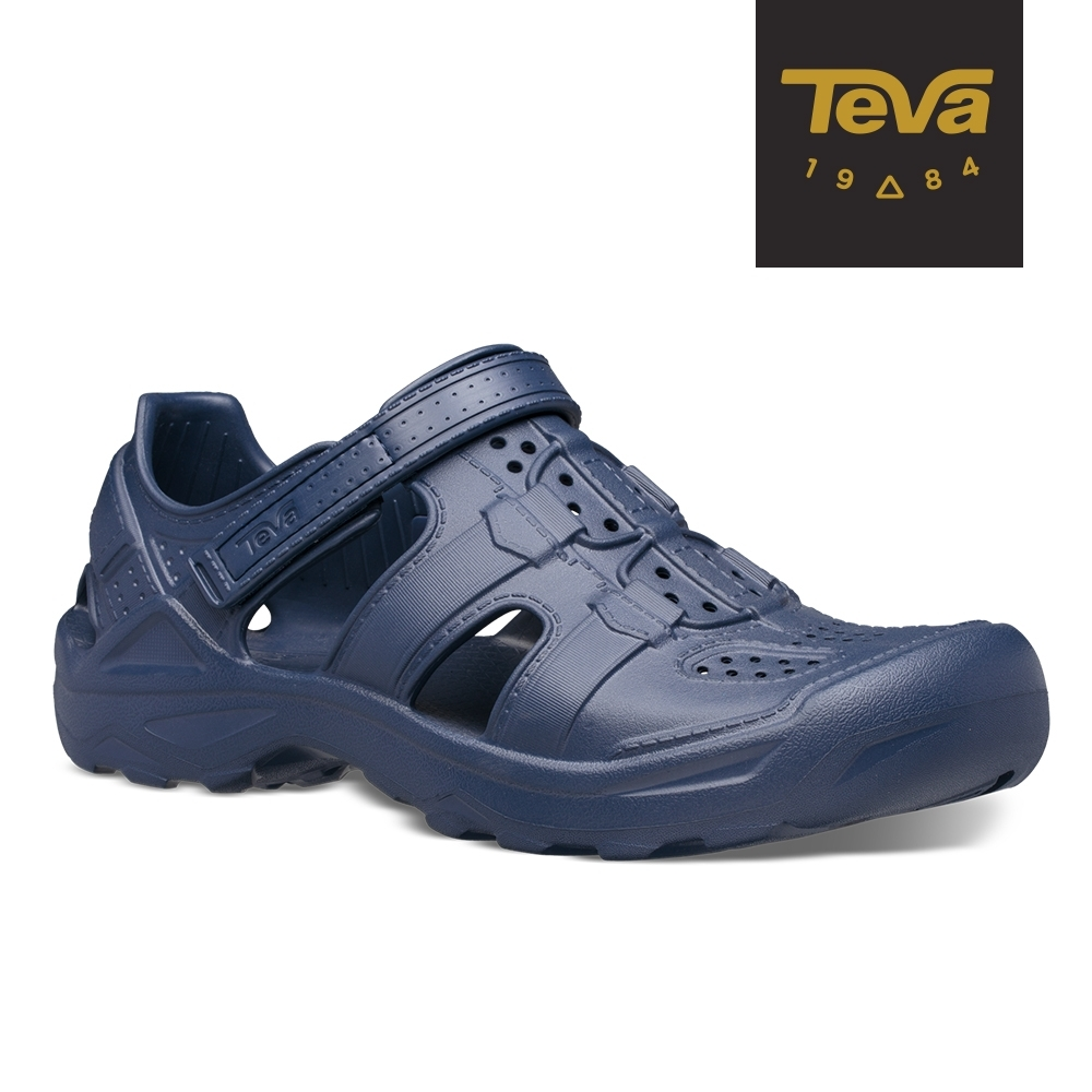 【TEVA】原廠貨 男 Omnium Drift 水陸輕量護趾涼鞋/雨鞋/水鞋(日蝕藍-TV1107829ECL)