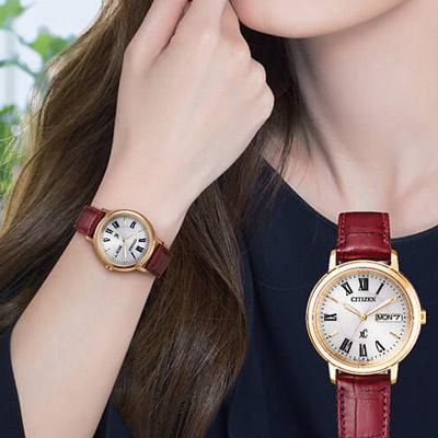 CITIZEN xC系列自信魅力光動能腕錶(EW2423-10A)-32mm