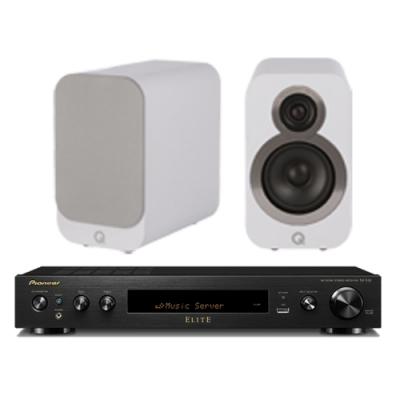 Pioneer 先鋒和Q ACOUSTICS 擴大機SX-S30-B和喇叭超級組合-白