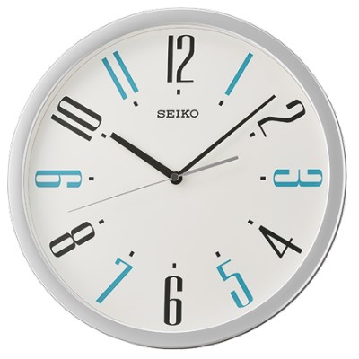 SEIKO 日本精工 滑動式秒針 靜音掛鐘(QXA729S)-銀/36cm