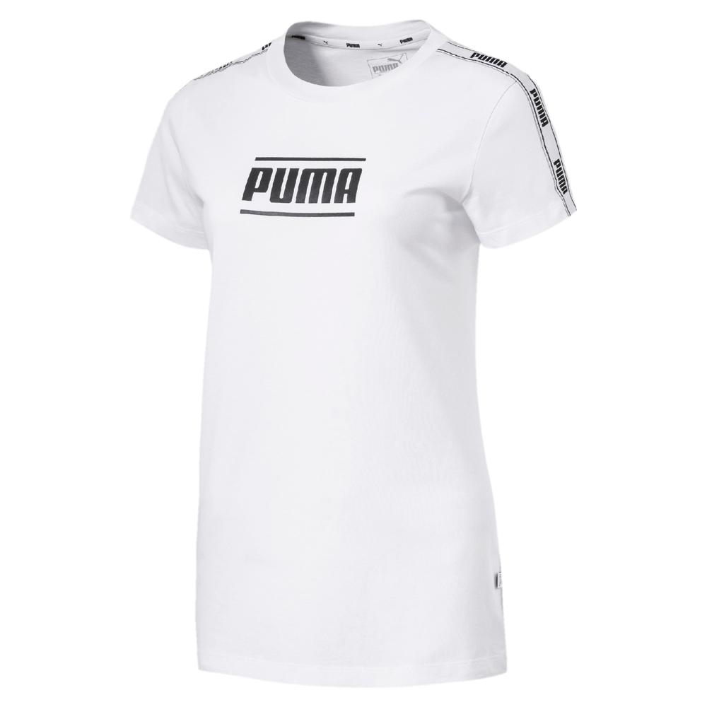 PUMA-女性基本系列Camo短袖T恤-白色-歐規