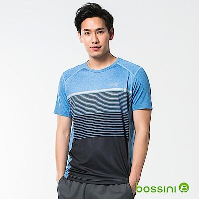 bossini男裝-速乾短袖圓領上衣13海藍