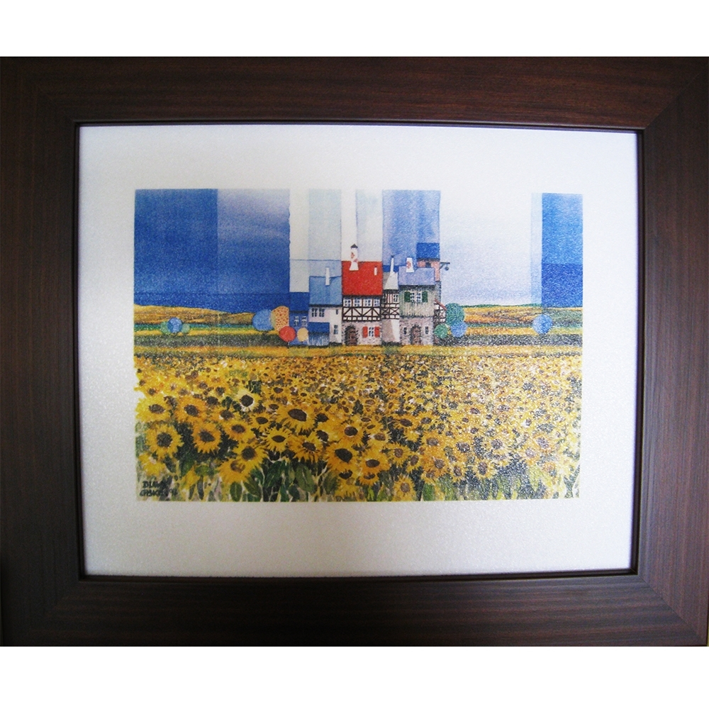 柔美系列 畫作--太陽花【幸福向日葵】38x32cm