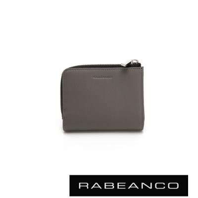 RABEANCO 歐系經典單拉鍊短夾 灰
