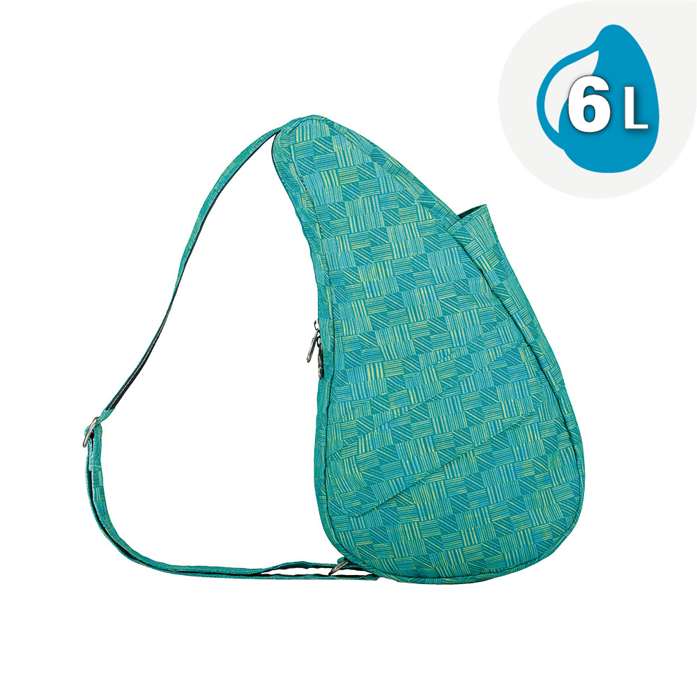 Healthy Back Bag 水滴單肩側背包-S 藍色織紋