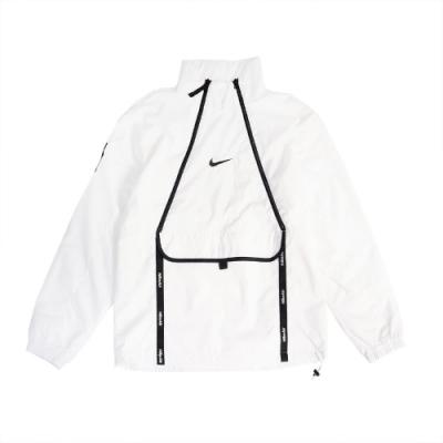 Nike 上衣 Air Top 運動休閒 立領 男款 開襟 大口袋 流行 穿搭 反光 雙拉鍊 白 黑 CU4119100