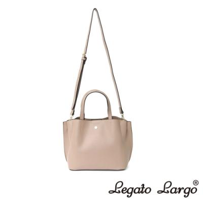 Legato Largo 驚異的輕量化 小法式輕便簡約 手提斜背兩用包 杏色