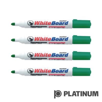 PLATINUM 白金 白板筆-綠色(4入)