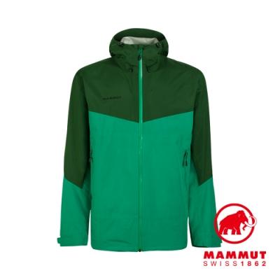 【Mammut 長毛象】Convey Tour HS Hooded Jacket GTX防風防水連帽外套 深翠綠/綠樹林 男款 #1010-27840