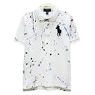 Ralph Lauren 大童經典大馬潑墨短袖POLO衫-白色(S/8歲)