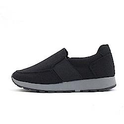 【AIRKOREA韓國空運】正韓仿毛料拼接運動休閒鞋-黑