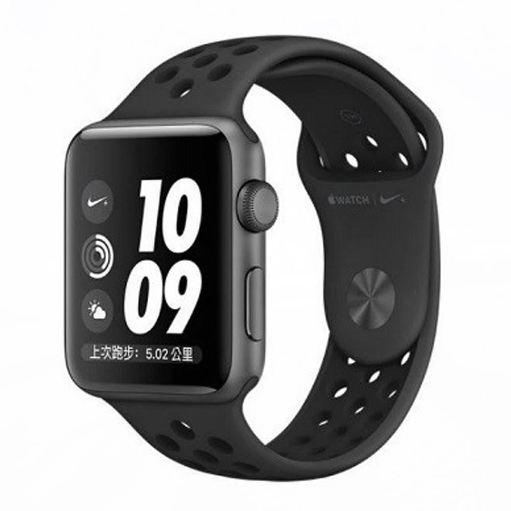 Apple Watch S3 Nike+42mm太空灰鋁金屬錶殼+黑色錶帶-MQL42TA @ Y!購物