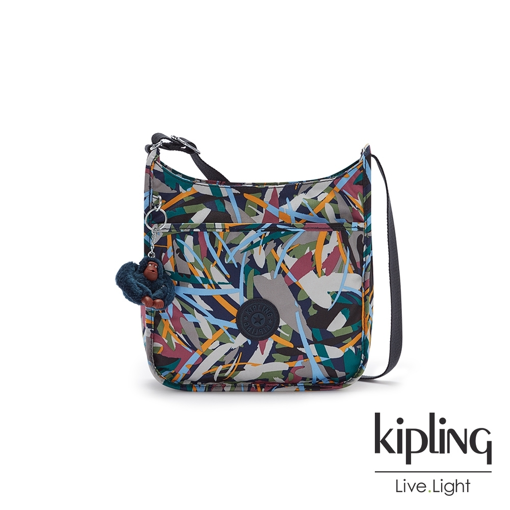 Kipling 幾何花卉圖騰大方輕便單肩包-NICCI