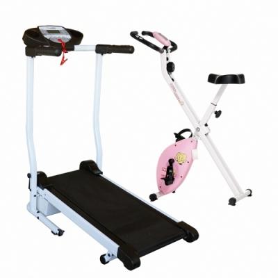 買一送一【 X-BIKE 晨昌】迷你跑步機電動跑步機  40200 -黑色(贈健身車)