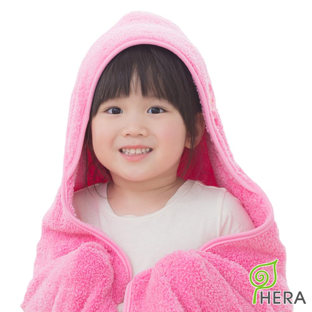HERA 3M專利瞬吸快乾抗菌超柔纖嬰幼童連帽巾-蜜桃紅
