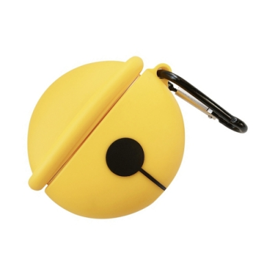 AirPods 1/2 代通用 藍牙耳機 保護套 鈴鐺 造型 保護殼-黃色*1