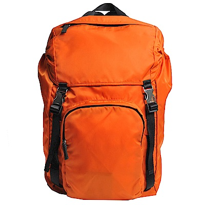 PRADA TESSUTO MONTAGN 經典尼龍布雙肩帶後背包(鮮橘)
