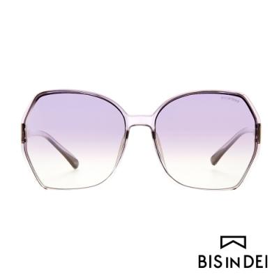 BIS IN DEI 復古爵士框太陽眼鏡-透紫