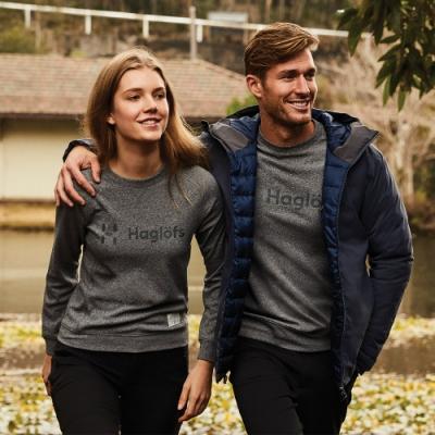 新品↘Haglofs 女 Frans 柔軟 舒適 長袖圓領衫 灰色混合色