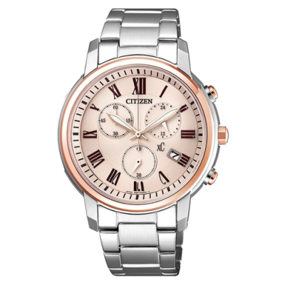 CITIZEN 星辰XC 亞洲限定優雅甜美時尚腕錶(FB1434-50Y)