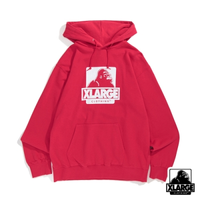 XLARGE OG PULLOVER HOODED SWEAT連帽上衣-桃紅