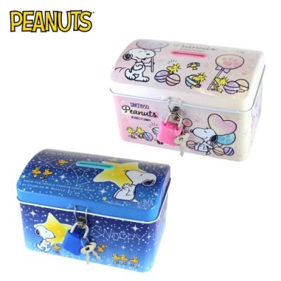 日本正版 史努比 鐵盒 存錢筒 小費盒 收納盒 Snoopy PEANUTS