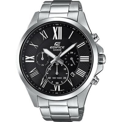 CASIO 卡西歐 EDIFICE 羅馬計時手錶(EFV-500D-1A)