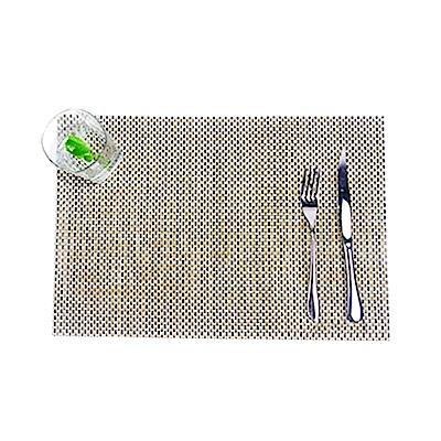 仿竹編織無邊桌墊/餐墊-4入(EZ-TB1)