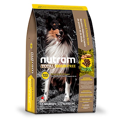 Nutram紐頓 T23 無穀挑嘴潔牙全齡犬(火雞+雞肉)配方 2.72KG