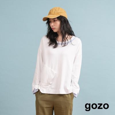 gozo 條紋拼接造型上衣(二色)