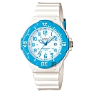 CASIO 卡西歐 迷你運動風指針手錶-藍圈x白(LRW-200H-2BVDF)
