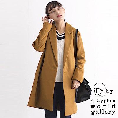 E hyphen 簡約側扣設計切斯特大衣外套