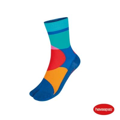 Havaianas 哈瓦仕 襪子 分趾襪 巴西 男女襪 粉/藍 4145804-8972S Print