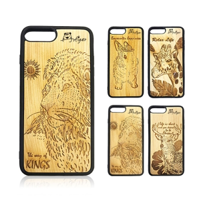 Artiger-iPhone原木雕刻手機殼-動物系列1(iPhone6 6s 7 8)