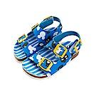 迪士尼 米奇 經典條紋造型 休閒涼鞋-藍