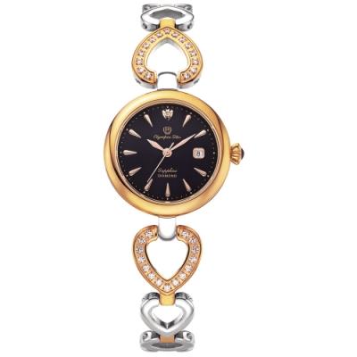 Olympia Star 奧林比亞之星 LOVE戀語珠寶腕錶-雙色x黑 28032DLSR