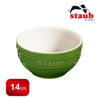 法國Staub 圓型陶瓷碗 14cm 羅勒綠