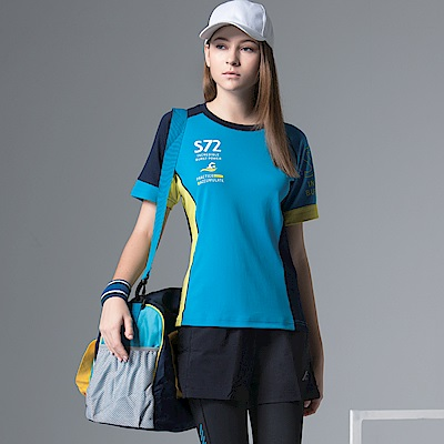 聖手牌 T恤圓領衫 水藍吸濕排汗運動休閒短袖圓領衫