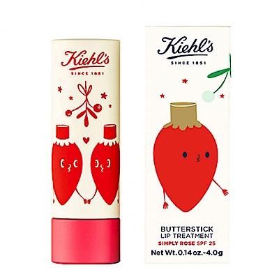 KIEHLS 契爾氏 限量版檸檬奶油護唇膏#玫瑰色 4g 聖誕節限量