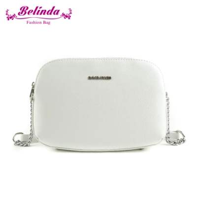【Belinda】希爾斯三層機能鍊條側背包(白色)