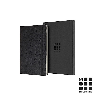 MOLESKINE 經典皮革筆記本禮盒(L型橫線)-黑