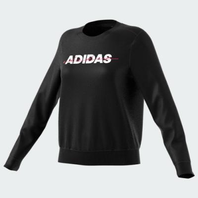 ADIDAS 上衣 長袖上衣 運動 健身 休閒 女款 黑 GR3750