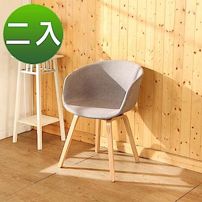 BuyJM北歐亞麻曲木餐椅/休閒椅2入組/寬48x44x81公分-DIY