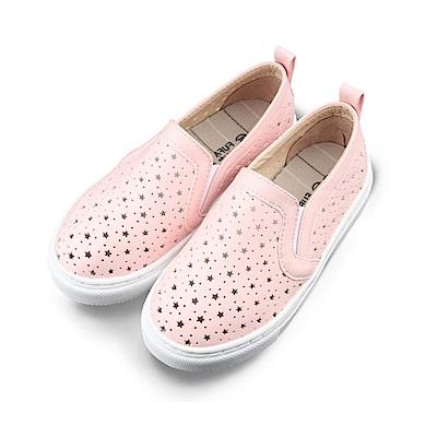 BuyGlasses 透氣舒適星星兒童懶人鞋-粉