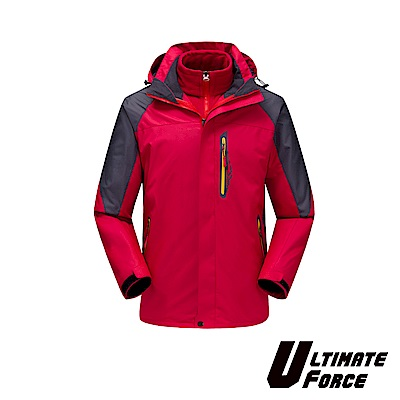 Ultimate Force「衝鋒」男款兩件式防風雪外套-紅色
