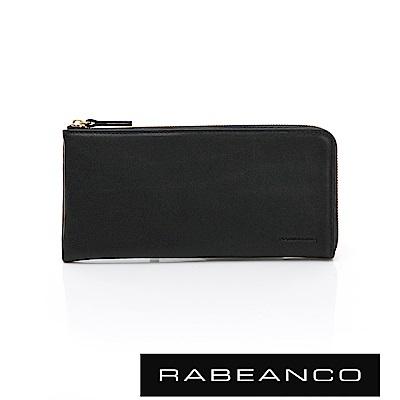 RABEANCO 歐系經典單拉鍊長夾 黑
