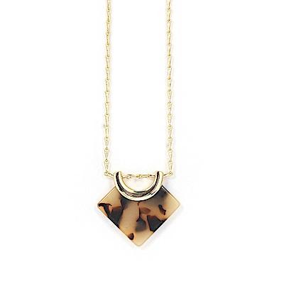 LOVERS TEMPO加拿大品牌 琥珀紋天秤吊墜 金色項鍊
