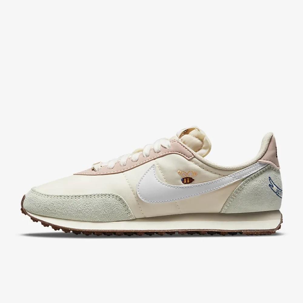 Nike WAFFLE TRAINER 2 小蜜蜂刺繡 女休閒鞋-粉-DM7188717