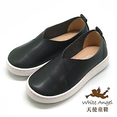 天使童鞋 時尚學院休閒鞋(中-大童)D422B-04 黑