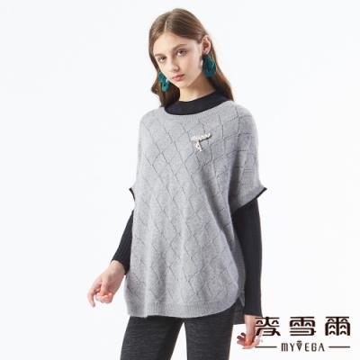 【麥雪爾】巴洛克格紋鏤空連袖針織衫